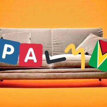 Palmy On a Couch