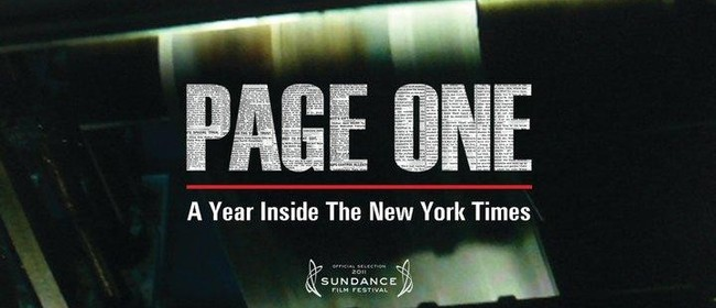 NZ Film Festival: Page One: Inside the New York Times
