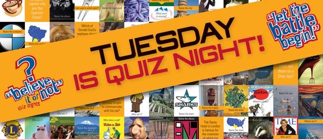 Quiz Night Ft Brendhan Lovegrove as Quiz Master