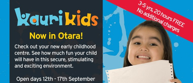 Kauri Kids Otara Open Days