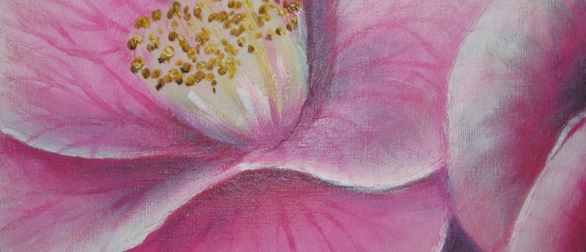 Pink Camillia Painting 1-day Workshop for Total Beginners