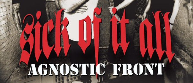 Sick Of It All and Agnostic Front - New York United Tour