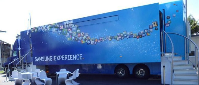 London 2012 Olympic Samsung Experience Truck