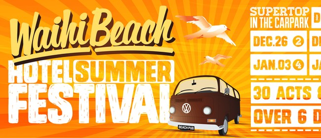 The Waihi Beach Hotel Summer Festival featuring Example (UK)