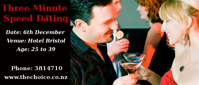 Three Minute Speed Dating Wellington