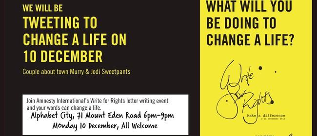 Amnesty International Letter Writing Event