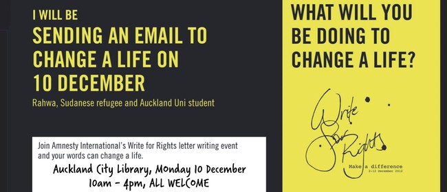 Amnesty's Letter Writing Event