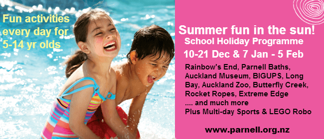 Auckland Zoo - Summer School Holiday Programme