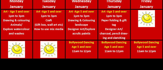 Creative and fun School Holiday Programme