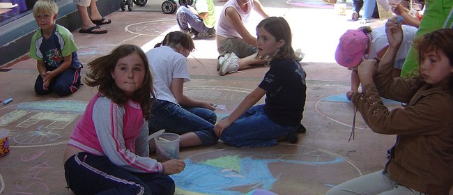 Funky Art Pavement Drawing - Paihia Summer Festival