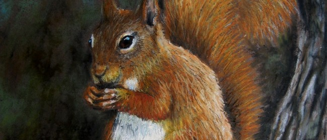Beginners Oil Pastel Squirrel