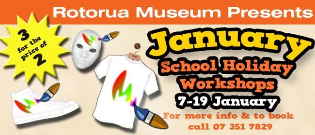 Rotorua Museum January School Holiday Workshops