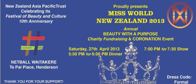 Miss World NZ Festival of Beauty 2013