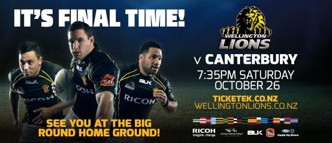 Wellington Lions Final Vs Canterbury