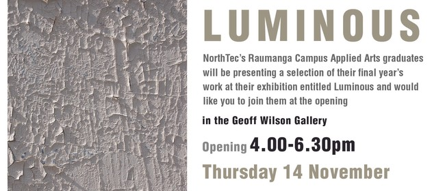 Luminous: Year 3 Applied Arts Graduate Show
