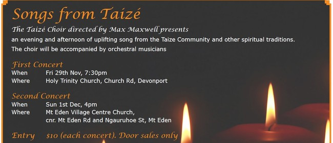 Songs From Taize - an afternoon of uplifting song