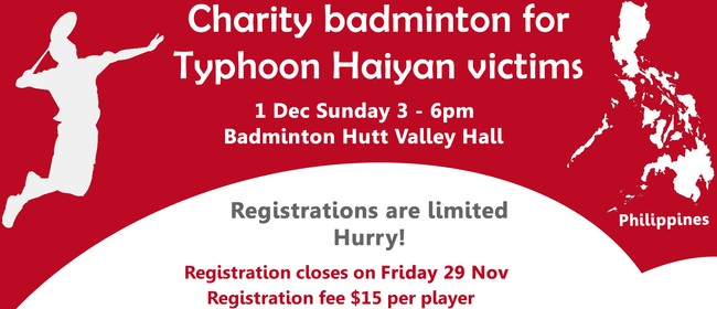 Charity badminton for Typhoon Haiyan Victims (Philippines)