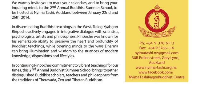 The Auckland Buddhist Summer School