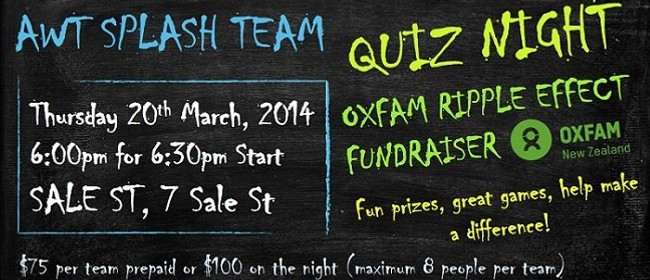 Quiz Night - Oxfam Ripple Effect