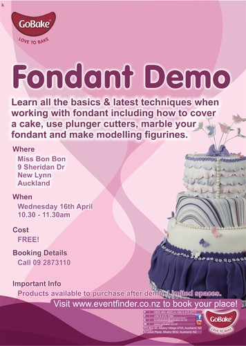Cake Decorations New Lynn : Fondant Cake Decorating Demo, New Lynn - Auckland - Eventfinda