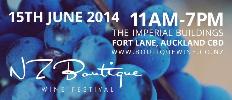 New Zealand Boutique Wine Festival 2014