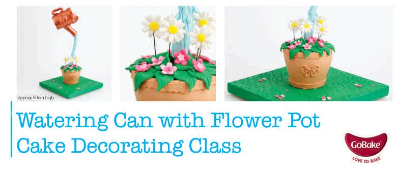 Cake Decorating Course New Zealand : Watering Can with Flower Pot Cake Decorating Class ...