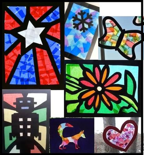 Cellophane Craft Paper Stained Glass Windows Ashhurst