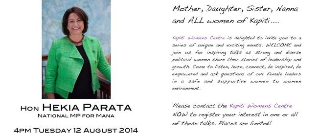 Inspiring Women: MP Hekia Parata