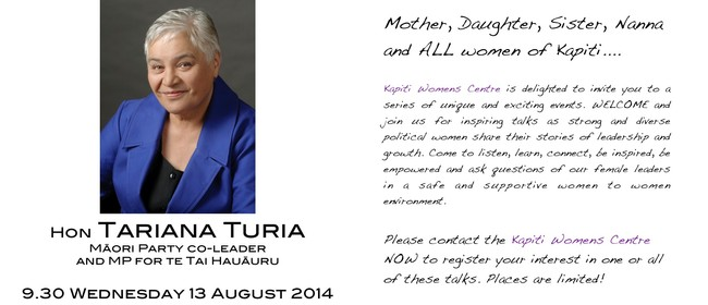 Inspiring Women: MP Tariana Turia