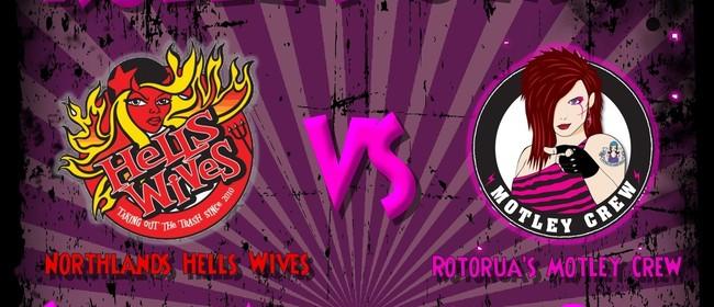 Hells Wives vs Motley Crew Roller Derby