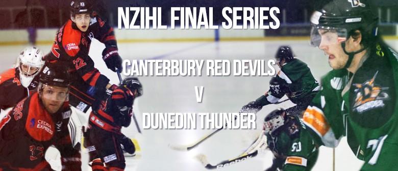 NZIHL Final Canterbury Red Devils vs. Dunedin Thunder