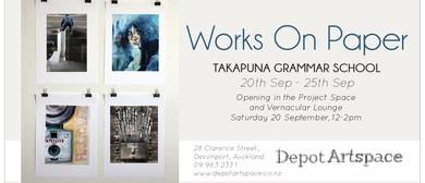 Takapuna Grammar School: Works on Paper