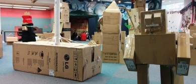 Giant Boxfort Building for All Ages at Imaginarium