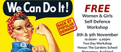 Women & Girls Self Defence Two Day Workshop