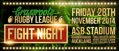 Grassroots Rugby League Fight Night