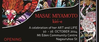 Art Exhibition: Masae Miyamoto kiri-e