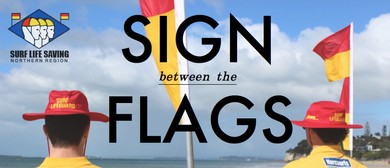 Sign Between the Flags