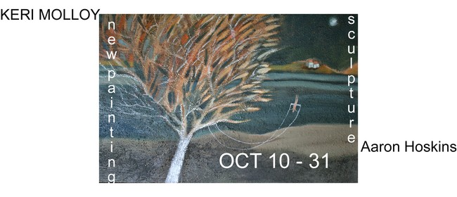 New Paintings by Keri Molloy & Carving By Aaron Hoskins