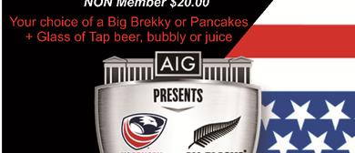 All Blacks V's USA Champagne Breakfast