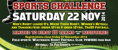 Waipareira Super 10s Sports Challenge Mixed Touch Tournament