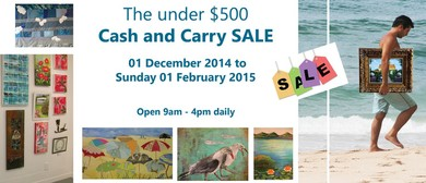 Cash and Carry under $500 Art Sale