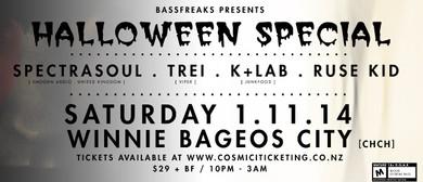 Bassfreaks Halloween Special feat Spectrasoul/Trei/K+LAB