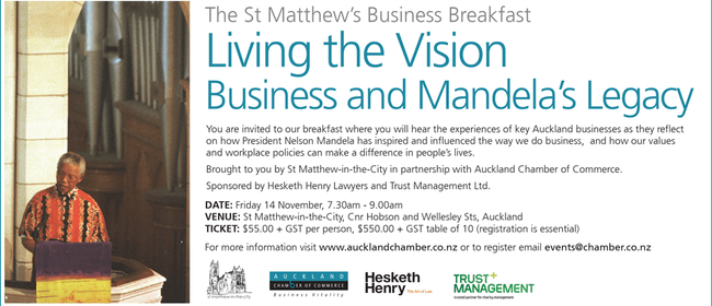 Living the Vision – Business and Mandela's Legacy