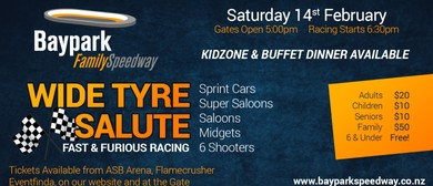 Baypark Family Speedway Wide Tyre Salute