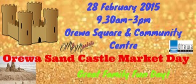 Orewa Beach Sand Castle Market Day