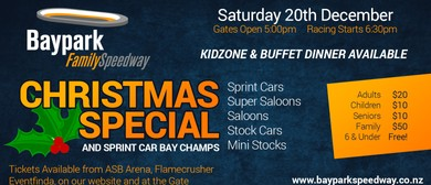 Baypark Family Speedway Christmas Special: CANCELLED