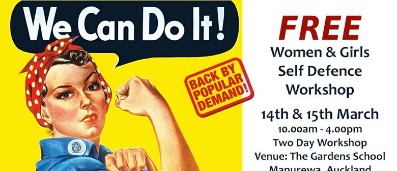 Women/Girls Free Self Defence 2 Day Workshop