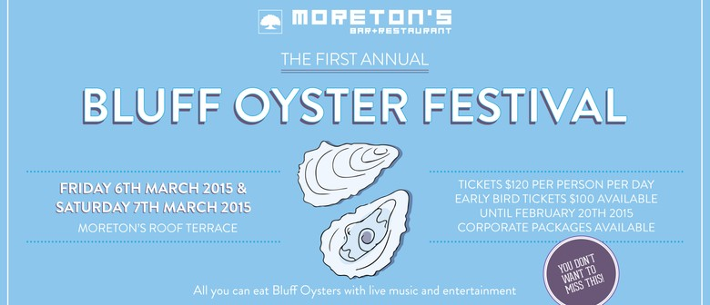 Moreton's First Annual Oyster Festival