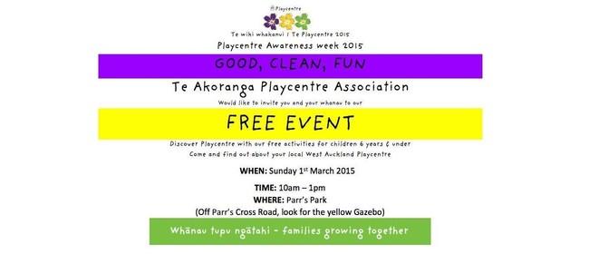 West Auckland - Playcentre Awareness Week Celebration