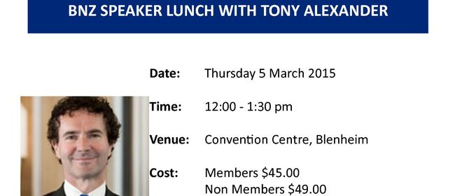 BNZ Speaker Lunch with Tony Alexander